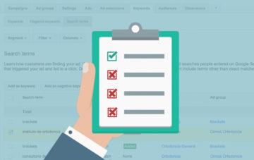 checklist palabras clave negativa