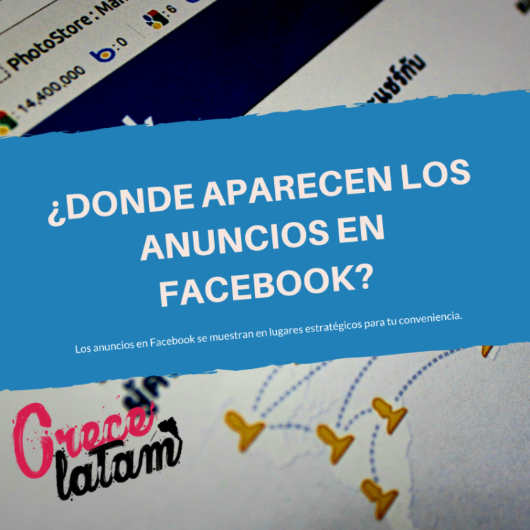 donde aparecen los anuncios en facebook